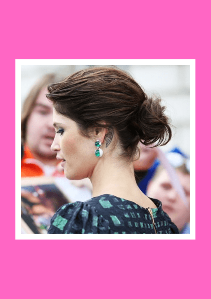 Chignon - 6 Flawless Up-do's For Short Hair Inspired By Beautiful Celebrities