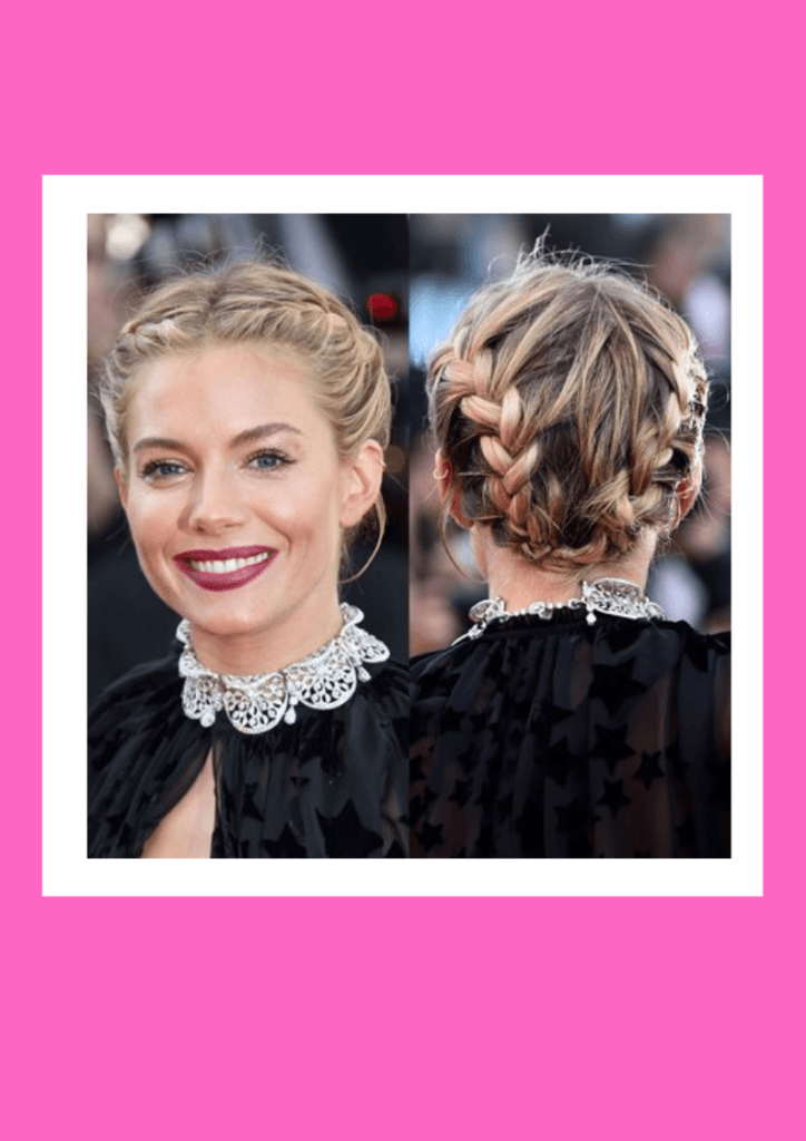 Milkmaid Braid - 6 Flawless Up-do's For Short Hair Inspired By Beautiful Celebrities