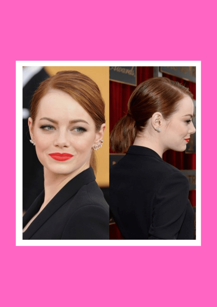 Sleek Ponytail - 6 Flawless Up-do's For Short Hair Inspired By Beautiful Celebrities